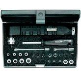 Jogo com Torquímetro de Estalo Dremometer Mini e Soquetes de 1/4 Pol. - GEDORE-047612