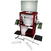 Alinhador de Direção Digital Laser com 2 Sensores e Rack Vermelho - POTENTE BRASIL-01.43.ALN1002/RK