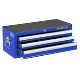 Gabinete Metálico Azul com 3 Gavetas - KINGTONY-87421-3C