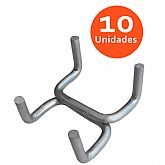 Gancho Duplo para Painel de Ferramentas com 10 Unidades - PRESTO-13000