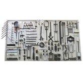 Painel para Ferramentas 1820 x 1000mm com 124 Peças e 98 Suportes - CRFERRAMENTAS-CR-11018-TOP