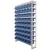 Estante Gaveteiro Organizador 54 Gavetas Número 5 Cor Azul  - FORTG-102857