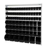Estante Porta-Componentes com 82 Caixas Pretas - MARCON-EP82P
