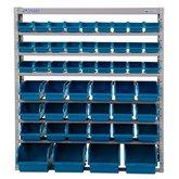 Estante Porta Componentes com 49 Caixas Azuis  - MARCON-EM49A