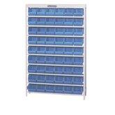 Estante Porta Componentes com 54 Caixas Nº 5 Cor Azul - MARCON-EM54/5A