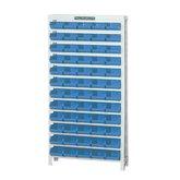 Estante Porta Componentes com 60 Caixas Nr. 3 Azuis - MARCON-EM60/3A