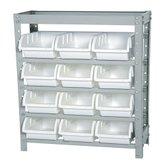Estante Porta Componentes com 12 Caixas Brancas Nr. 5 - MARCON-EF12/5B