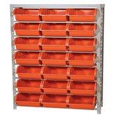 Estante Porta Componentes com 21 Caixas Nr. 7 Cor Laranja - MARCON-EF21/7L