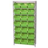 Estante Porta Componentes Desmontável 21 Caixas Nr. 7 Cor Verde - MARCON-EF21/7VD