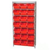 Estante Porta Componentes Desmontável com 21Caixas Vermelhas Nº 7 - MARCON-EF21/7V
