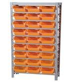 Estante Porta Componentes Desmontável com 27 Caixas Nº 5 Cor Laranja - MARCON-EF27/5L