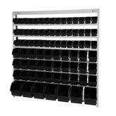 Estante Porta-Componentes Desmontável com 82 Caixas Pretas - MARCON-EF82P