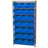 Estante Porta-Componentes com 21 Caixas Azuis Número 7 - MARCON-EP21/7A