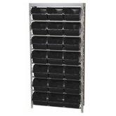 Estante Porta-Componentes com 21 Caixas Pretas Número 7 - MARCON-EP21/7P