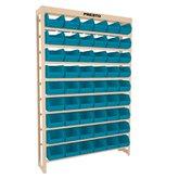 Estante Gaveteiros com 54 caixas número 05 Azul - PRESTO-EP54/5
