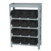 Estante Porta- Componentes Desmontável com 12 Caixas N°5 Pretas - MARCON-EF12/5P