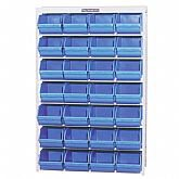 Estante Porta-Componentes com 28 Caixas Azuis N° 7 - MARCON-EP28/7A