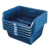 Cesto Expositor Prático Azul com 5 Unidades - PRESTO-12200A