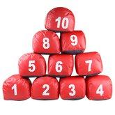 Jogo de Prismas do Número 1 a 10 Vermelho - PRISMASUL-PRIS1/10VERM