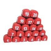 Jogo de Prisma de 1 à 20 Vermelho - PRISMASUL-1A20VERM