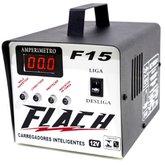 Carregador Inteligente 15A 12V de Bateria com Auxiliar de Partida - FLACH CARREGADORES-F15