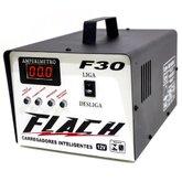 Carregador Inteligente 30A 12V de Bateria com Auxiliar de Partida - FLACH CARREGADORES-F30