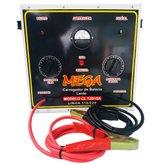 Carregador de Baterias Portátil de Cargas Lentas 15A 110/220V - MEGA-MEGACL12B15A