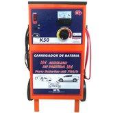 Carregador de Baterias Rápido e Lento + Auxilar de Partida 12V 50A - KITEC-K50