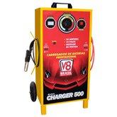 Carregador de Bateria Profissional 50A Bivolt com Auxiliar de Partida Charger 500 - V8 BRASIL-97614