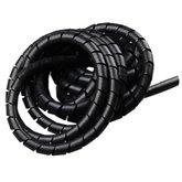 Tubo Espiral Preto - Organizador de Fios de 5 Metros com Diâmetro de 3/4 Pol. - TRAMONTINA-57499054