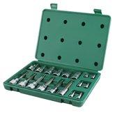 Jogo de Soquetes com Bits Multidentado com Encaixe 1/4 - 1/2 Pol. com 18 Peças - SATA-ST09051SJ