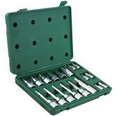 Jogo de Soquetes com Bits Hexagonais 1/4 - 1/2 Pol. com 18 Peças - SATA-ST09053SJ