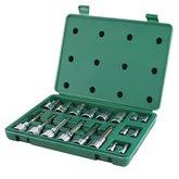 Jogo de Soquetes com Bits Torx  18 Peças com Encaixe de 1/4 - 1/2 Pol. - SATA-ST09052SJ