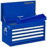 Baú Gabinete Metálico Azul com 6 Gavetas - KINGTONY-87411-6B-B