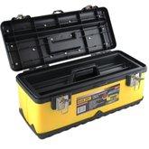 Caixa de Ferramentas de Aço Inoxidável Amarelo 18 Pol. - BLACK JACK-E095