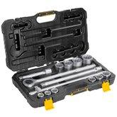 Jogo de Soquetes Estriados 22 a 50mm com Encaixe de 3/4 Pol. Com 14 Peças - VONDER-3029022050