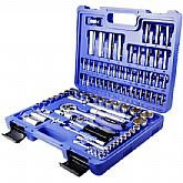 Jogo de Soquetes com Encaixes de 1/2 e 1/4 Pol. com 94 Peças  - Riosul Tools-010123