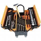 Caixa Sanfonada Cargobox com Rodas, Puxador e 60 Ferramentas - TRAMONTINAPRO-44952/660