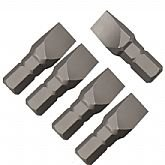 Jogo de Bits Fenda Simples com 5 Peças Encaixe de 1/4 Pol. - 8 mm  - ROBUST-B625-S8MM