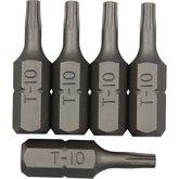 Bits Perfil Torx 10 mm com Guia - 5 Peças - ROBUST-B625-TB10