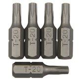 Bits Perfil Tork com 5 Peças 1/4 Pol. 20 mm - ROBUST-B625-TB20MM