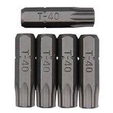 Bits tipo Tork com Guia 5 Peças 1/4 Pol. - 40 mm - ROBUST-B625-TB40