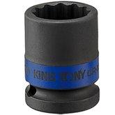 Soquete de Impacto Estriado de 12mm com Encaixe de 1/2 Pol.  - KINGTONY-453012M