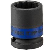 Soquete de Impacto Estriado de 15mm com Encaixe de 1/2 Pol. - KINGTONY-453015M