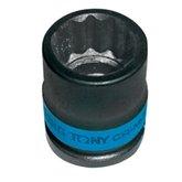 Soquete de Impacto de Estriado 19mm com Encaixe de 1/2 Pol. - KINGTONY-453019M