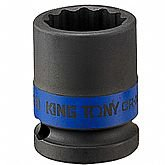 Soquete de Impacto Estriado de 24mm com Encaixe de 1/2 Pol.  - KINGTONY-453024M