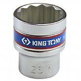 Soquete Estriado de 26 mm com Encaixe de 1/2 Pol. - KINGTONY-433026MR