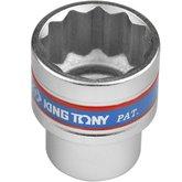 Soquete Estriado de 27 mm com Encaixe de 1/2 Pol. - KINGTONY-433027