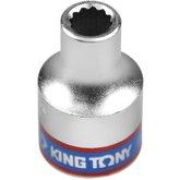 Soquete Estriado de 8 mm com Encaixe 1/2 Pol. - KINGTONY-433008