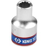 Soquete Estriado 9 mm com Encaixe 1/2 Pol. - KINGTONY-433009